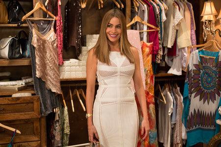 Sofia in that tight, white dress
