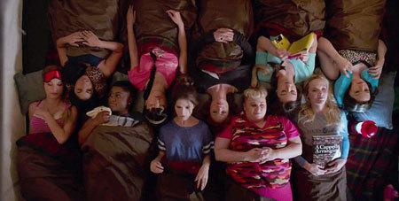 The Bellas' slumber party