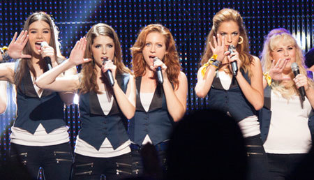 Hailee (left) and Brittany (center) perform