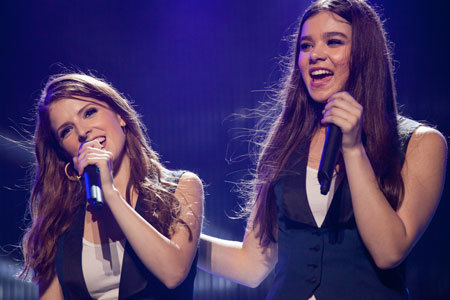 Hailee as Emily with Anna Kendrick as Beca