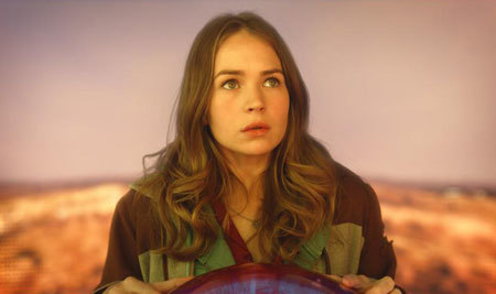 Casey (Britt Robertson) tries to take in the fantastic truth