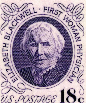 Elizabeth Blackwell was honoured with her own stamp!