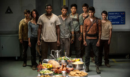 The surviving Gladers react to soemthing they hadn't seen in a long time... a feast