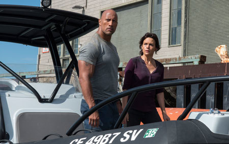 Ray (Dwayne) and Emma (Carla) eye a boat for escape