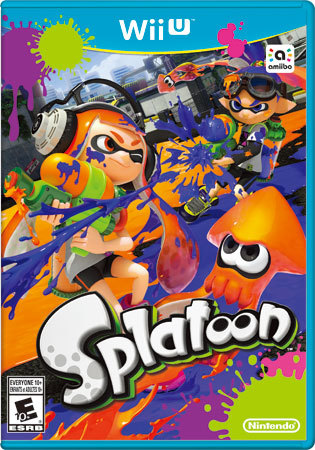 Splatoon Wii U Video Game Cover