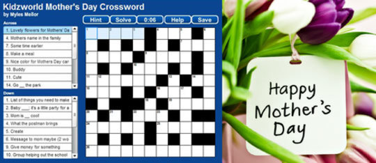 Feature mothers day crossword feat