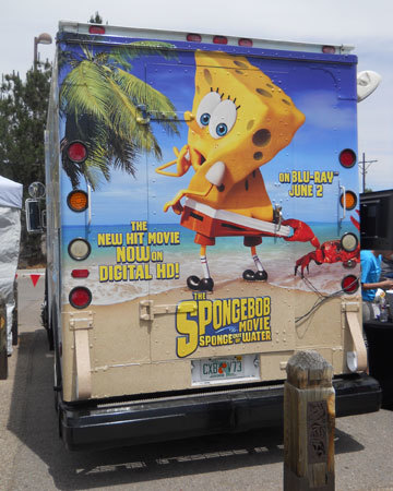 The rear of the truck...and SpongeBob