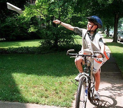 A paper route is a great way to get outdoors