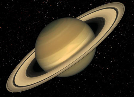 Planet Saturn Solar System Moon Sky Rings Fact