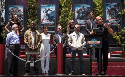 The cast of Fast and Furious at the opening