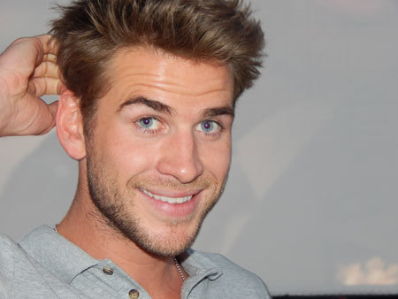 Liam Hemsworth at the post-interview party