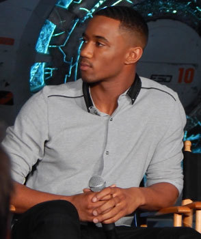 Jessie Usher who plays Dylan Hiller in the film