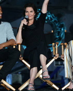 Sela Ward at the Interview