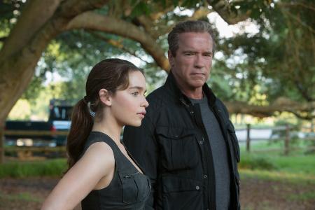 Sarah and her Terminator protector