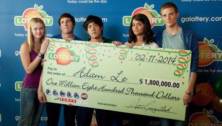 Adam wins the lottery!