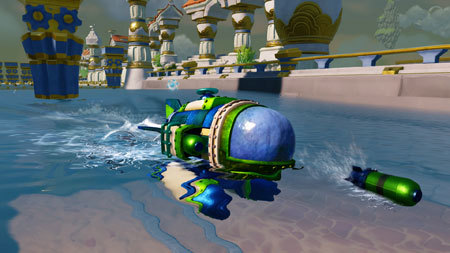 Dive Bomb works on the surface of the water, as well as underneath