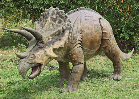 Triceratops mouth looks like a beak
