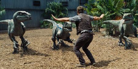Owen (Chris) controls his raptors