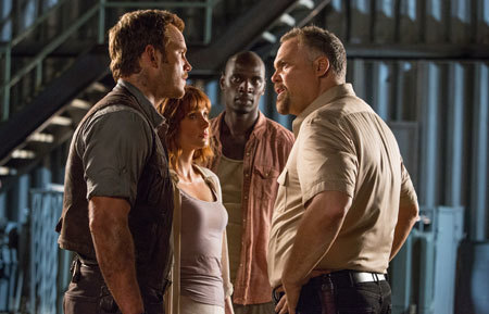Owen and Claire confront baddie Hoskins