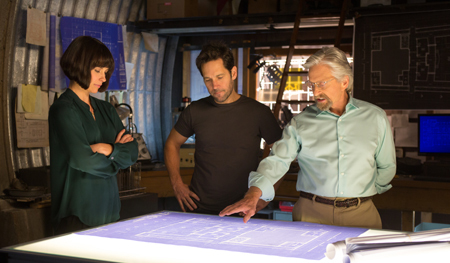 Hope (Evangeline) makes plans with Ant-Man and her dad