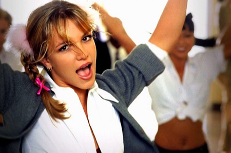 Britney Spears in her first music video