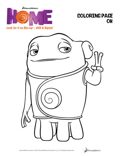 DreamWorks HOME Activity Sheets