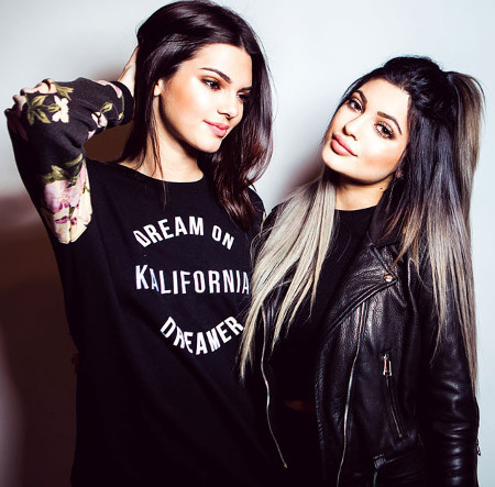 Kendall and Kylie in Splash magazine