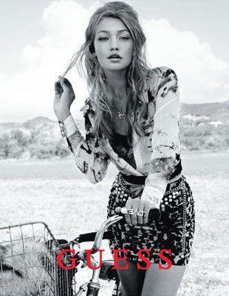 Gigi became the face of Guess in 2012