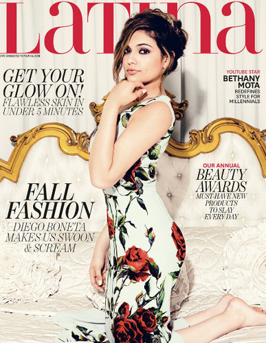 Bethany Mota on the September 2015 cover of Latina
