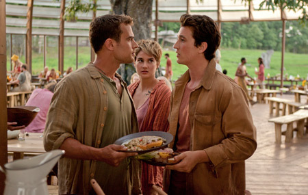 Four and Peter argue in the Amity camp