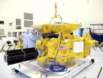 Scientists working on the New Horizons space probe
