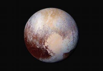 Check out this colored version of one of the closest ever images of Pluto!