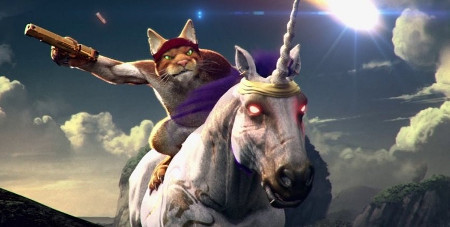 A cat riding a unicorn. How can you get better than that?