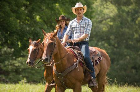 Sophia and Luke horseback riding