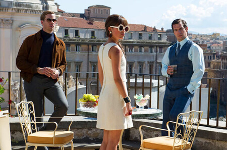 Gaby (Alicia Vikander) with her two spies