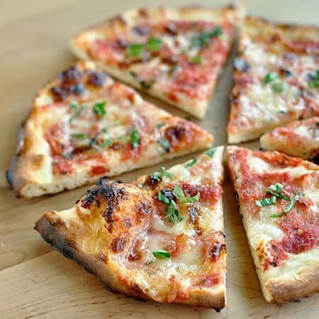 Who doesn't love a simple margherita pizza?
