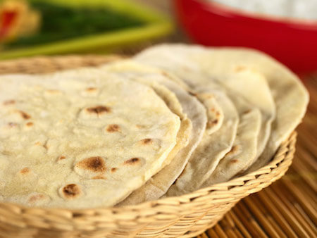 Roti is an example of a type of Indian flatbread