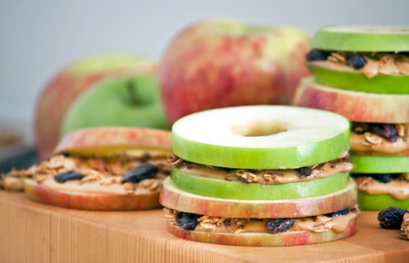 You can even make apple sandwiches!