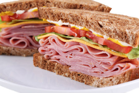 Ham is a popular sandwich meat