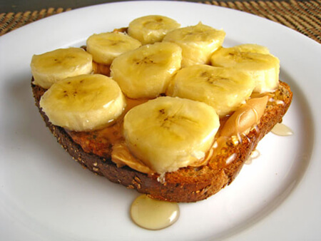 Peanut butter and banana is the perfect combination!
