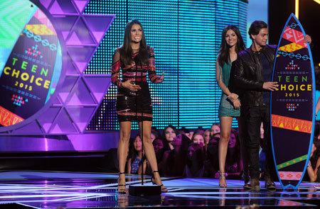 Nina Dobrev winner of the Choice TV Actress Sci-Fi/Fantasy
