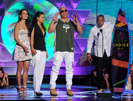 Michelle Rodriguez, Vin Diesel, Jordana Brewster and Ludacris accept the Choice Movie: Action Award
