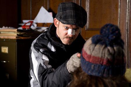 Dominic Monaghan plays the baddie