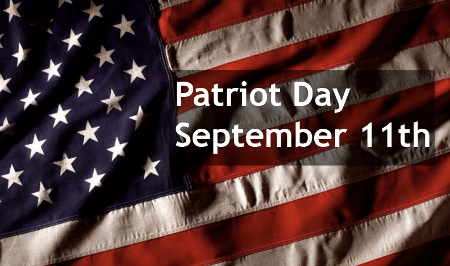 September 11th is Patriot Day in the U.S.