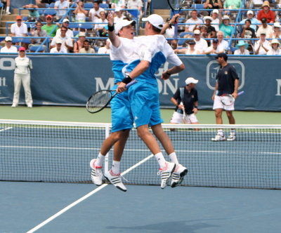 The Bryan Brothers Chest Bump