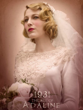 Adaline in her wedding dress