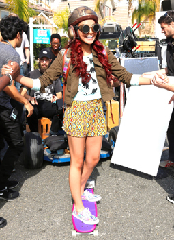 Ysa Penarejo behind the scenes on the set of Project Mc2