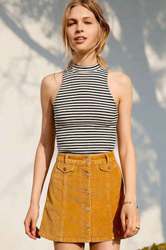 The colour of this skirt is great for fall!