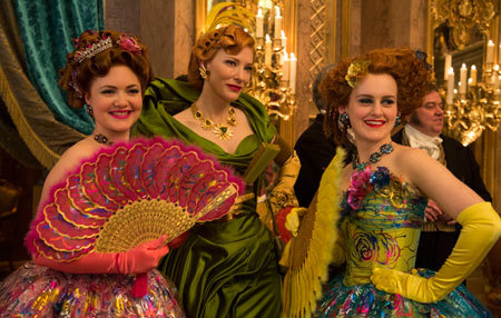 Stepmom and stepsisters at the ball