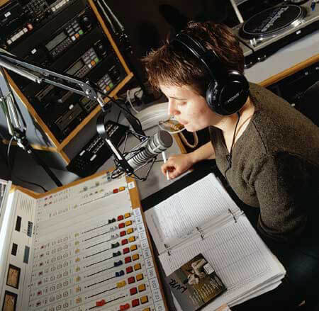 Get an internship at your college radio station for some great experience!
